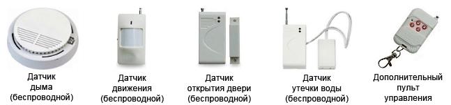 Датчики для GSM сигнализации в доме
