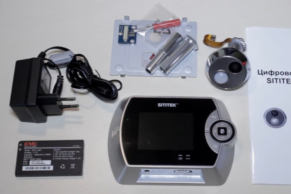 Комплектация видеоглазка Sititek GSM