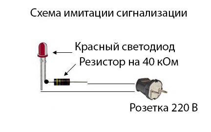 Схема имитации охранной сигнализации