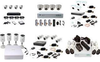 Готовый комплект видеонаблюдения на 4 камеры: лучшие уличные и внутренние готовые решения