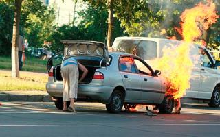 План действий при возгорании автомобиля: пошаговый алгоритм мероприятий