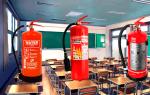 Какие огнетушители должны быть в школе: количество и размещение противопожарных устройств