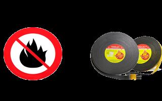 Противопожарная лента: виды, принцип действия и требования по безопасности