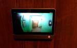 Камера видеонаблюдения в глазок двери — как выбрать и установить?