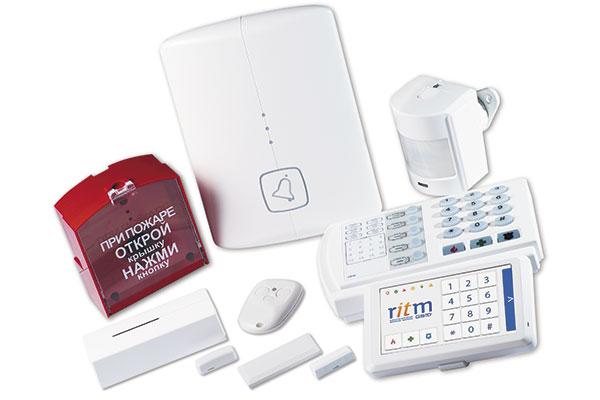 Базовый комплект GSM сигнализации Контакт