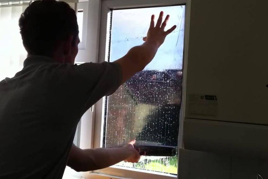 Спаттерная пленка на окна