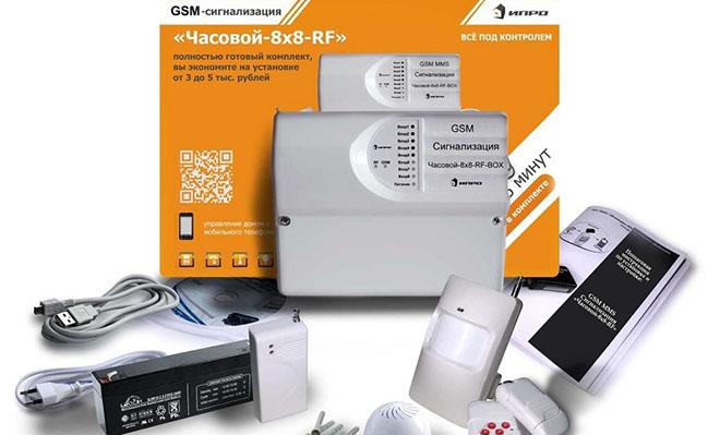 GSM сигнализация Умный Часовой для дома, дачи и гаража