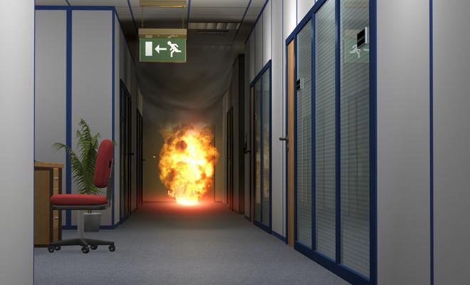 Пожарная сигнализация в офисе