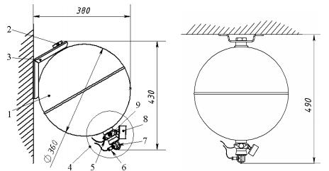 Габаритные размеры модуля Импульс