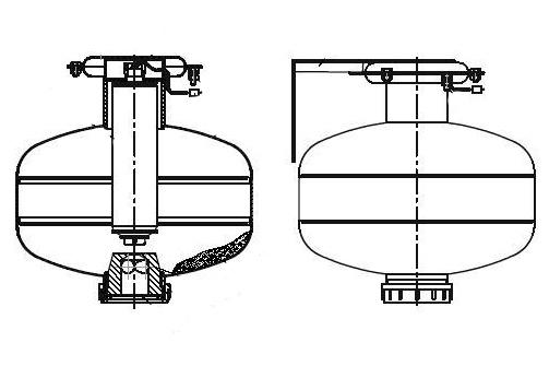 Конструкция модуля порошкового пожаротушения Тунгус