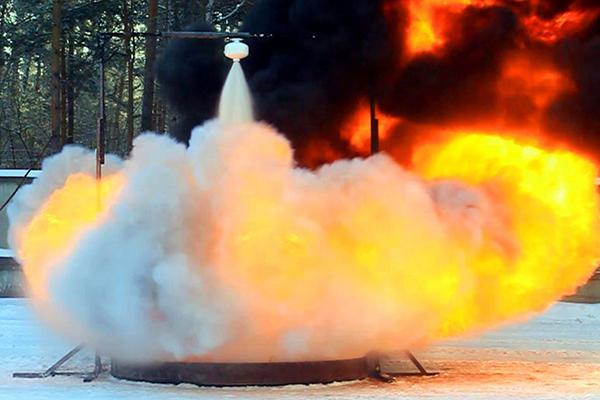 Тестирование порошкового пожаротушения