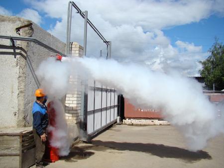 Ручная система порошкового пожаротушения