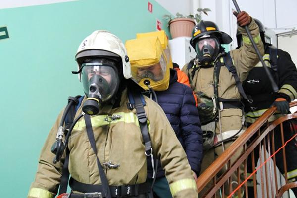 Эвакуация персонала при пожаре