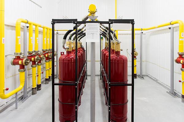 Система газового тушения пожаров
