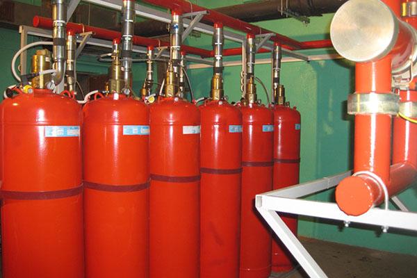 Установленная система газового пожаротушения
