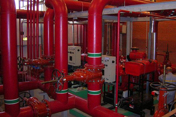 Установленный внутренний водопровод