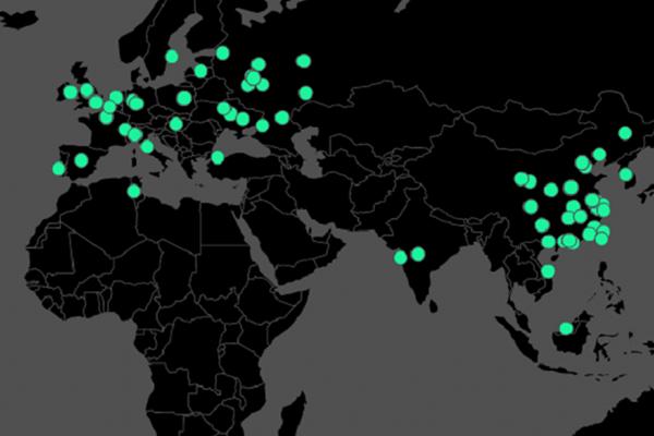 Карта распространения вируса по миру