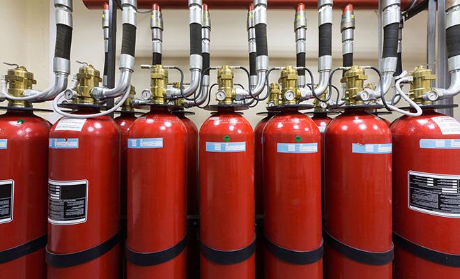 Использование газового пожаротушения хладонами