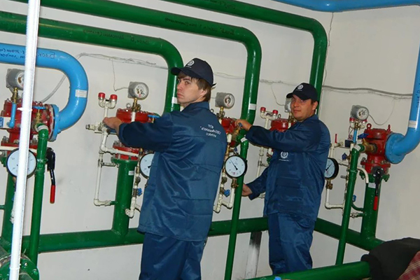 Проверка клапанов системы пожаротушения