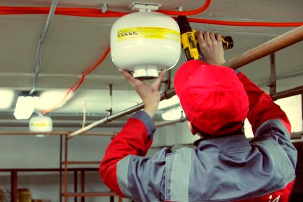 Монтаж автоматической водяной системы пожаротушения