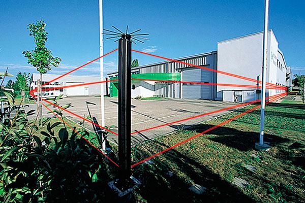 Расположение охранных датчиков