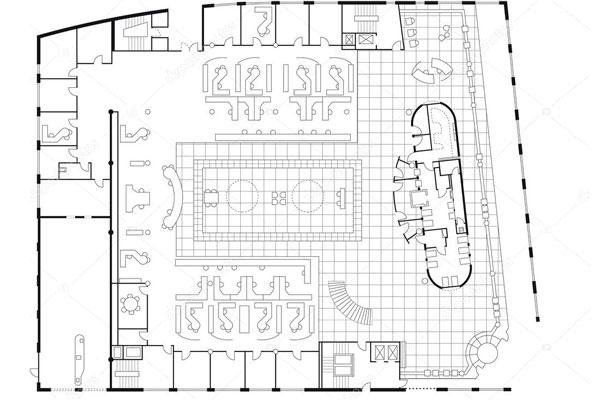 Планировка помещения для проектирования пожарной сигнализации