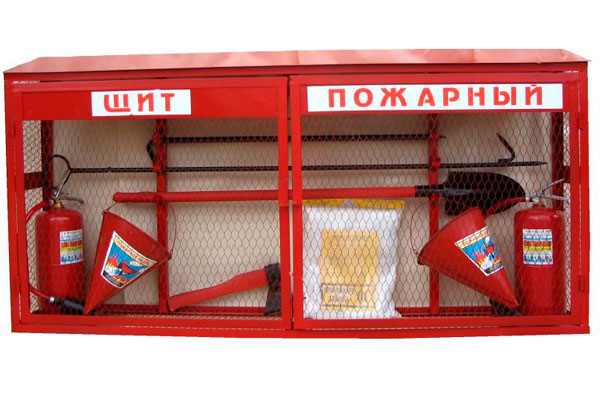 Противопожарное полотно на пожарном стенде