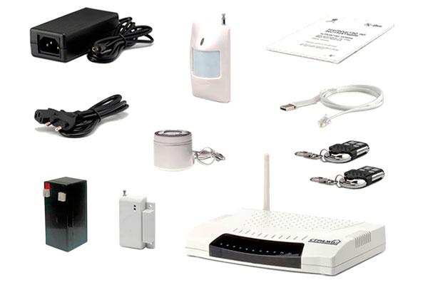 Стандартный набор комплектующих охранной сигнализации
