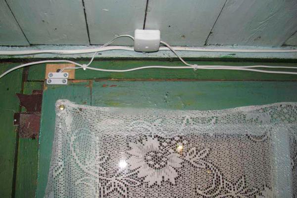 Датчик охранной сигнализации на даче
