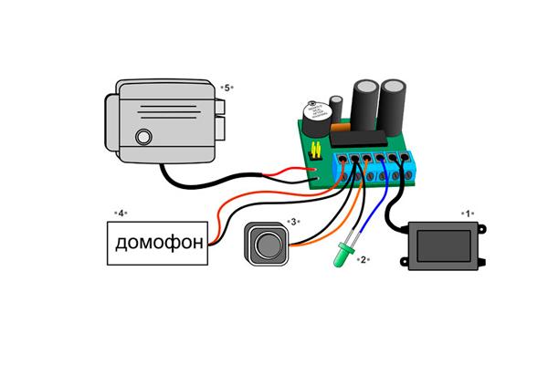 Подключение домофона к электропитанию