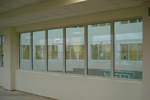 Противопожарные окна в офисе