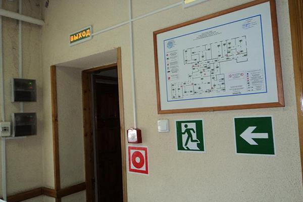 Схема эвакуации в гостинице