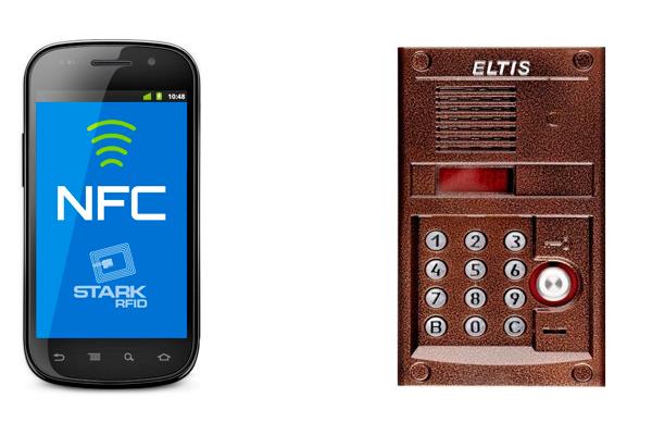 Открытие домофона технологией NFC при помощи смартфона