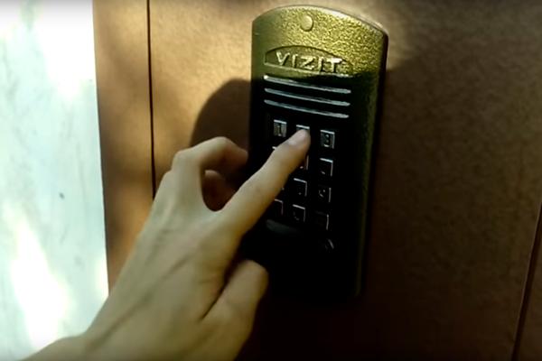 Открытие домофона Vizit с помощью стандартного кода