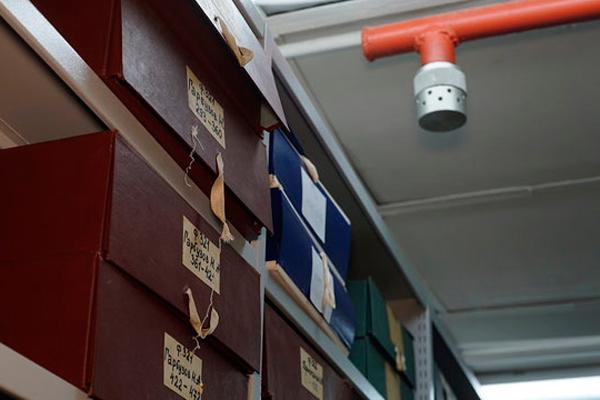Газовая система пожаротушения в архиве