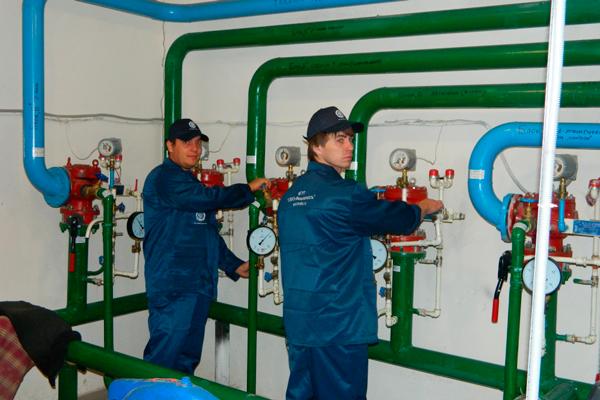 Монтаж систем пожаротушения в газовом хозяйстве
