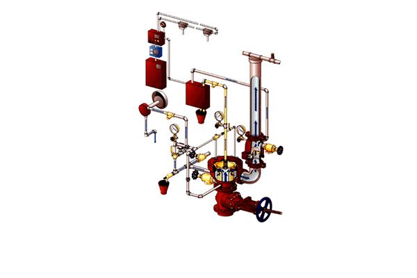 Стационарная установка для тушения пожара на газовом хозяйстве