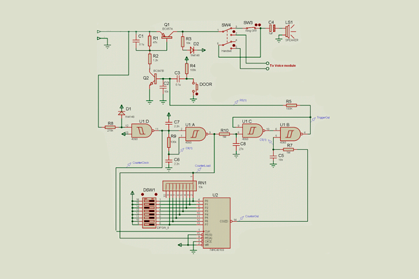 Электронная схема домофонной трубки