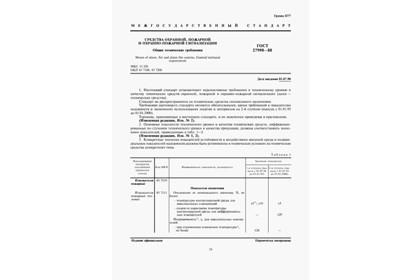 ГОСТ 27990-88 по АПС