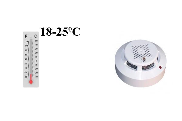 Оптимальная температура для датчиков пожарной сигнализации