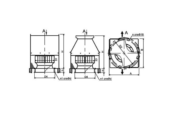 Схема вентилятора дымоудаления который устанавливается на крыше