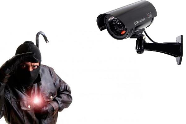 Отпугивающий эффект муляжа камеры видеонаблюдения