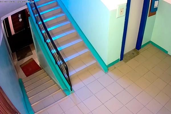 Правильное размещение камеры видеонаблюдения в подъезде