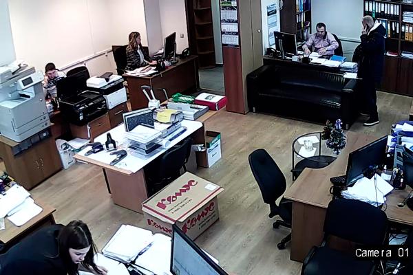 Наблюдение за рабочим процессом в офисе с помощью видеонаблюдения