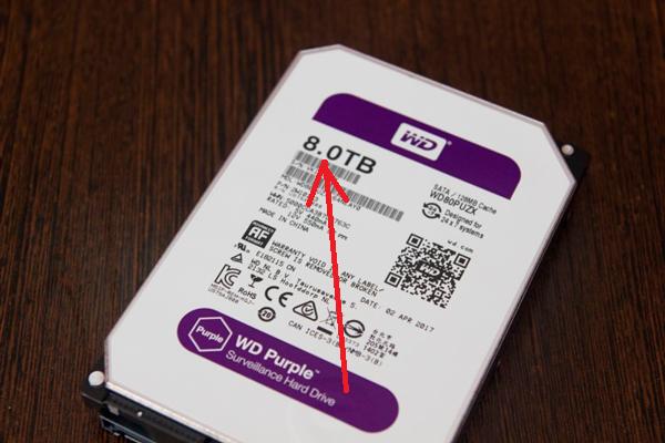 Объем жесткого диска для систем видеонаблюдения
