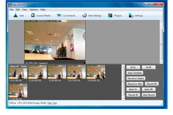 Программа ISpy для введения видеонаблюдения Web-камерой