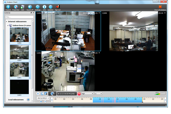 Программа для наблюдения Web-камерой IVideon Client