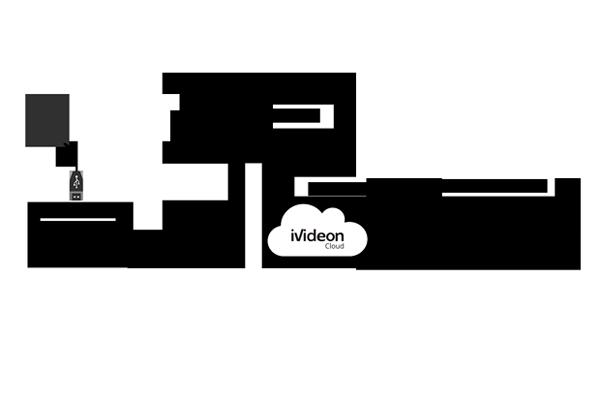 Схема системы видеонаблюдения с Web-камерой
