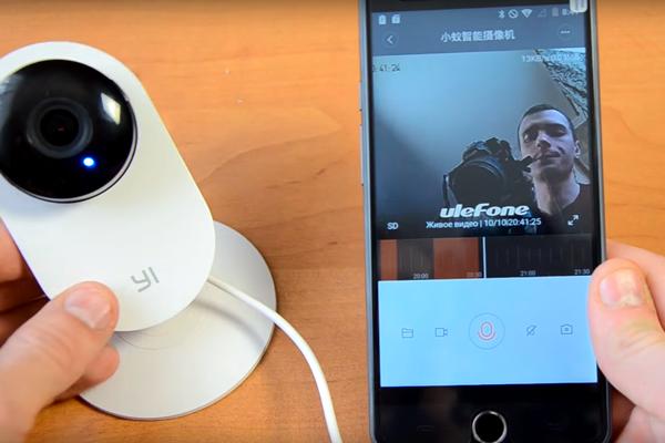 Подключение к смартфону камеры Xiaomi Yi Home International Edition