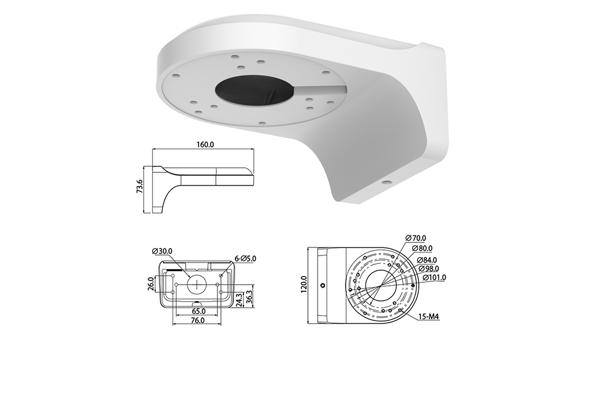 Настенный кронштейн для камеры видеонаблюдения RWI-BW2